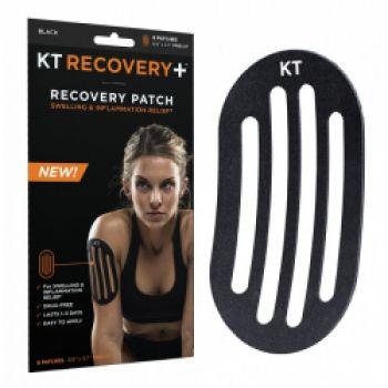 Кинезиотейп восстанавливающий при воспалении, отеках КТ-Тейп (KT Tape, США) - Черный, упаковка 4 шт.